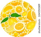 lemon with slices forming a