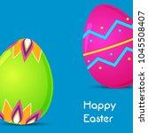 happy easter background...   Shutterstock .eps vector #1045508407