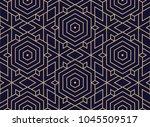 vector seamless geometric... | Shutterstock .eps vector #1045509517