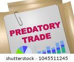 3d illustration of predatory... | Shutterstock . vector #1045511245