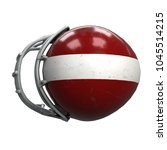 old american football helmet.... | Shutterstock . vector #1045514215