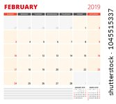 calendar planner template for... | Shutterstock .eps vector #1045515337