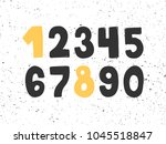 hand drawn numbers 1234567890 ... | Shutterstock .eps vector #1045518847
