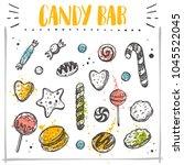 candy bar concept design. hand... | Shutterstock .eps vector #1045522045