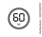 the 60 seconds  stopwatch... | Shutterstock .eps vector #1045526935