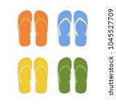 realistic 3d colorful flip... | Shutterstock .eps vector #1045527709