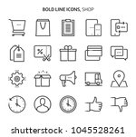 shopping  bold line icons. the... | Shutterstock .eps vector #1045528261