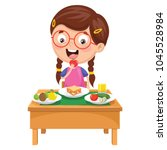 vector illustration of kid... | Shutterstock .eps vector #1045528984