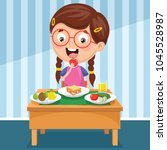 vector illustration of kid... | Shutterstock .eps vector #1045528987