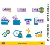 set of thai baht. banknote and...   Shutterstock .eps vector #1045535689