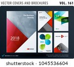 creative design of brochure set ... | Shutterstock .eps vector #1045536604