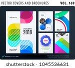 set of design brochure ... | Shutterstock .eps vector #1045536631