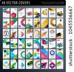 set of design brochure ... | Shutterstock .eps vector #1045536667