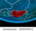 nigeria in red with visible... | Shutterstock . vector #1045544911