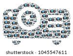 projector pattern done in the... | Shutterstock .eps vector #1045547611