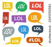 lol speech bubbles vector. fun... | Shutterstock .eps vector #1045550581