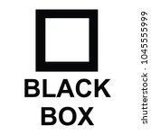 black box sign  vector | Shutterstock .eps vector #1045555999