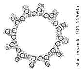 cogwheel pattern organized in...   Shutterstock .eps vector #1045559605