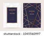 luxury wedding cards with... | Shutterstock .eps vector #1045560997