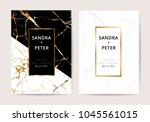 wedding invitation cards with... | Shutterstock .eps vector #1045561015