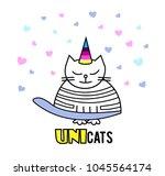cats. unicorn  cute graphics | Shutterstock .eps vector #1045564174