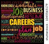 careers word cloud collage ...   Shutterstock .eps vector #1045565179