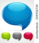 abstract glossy speech bubbles... | Shutterstock .eps vector #104556734