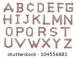 alphabet   letters from wooden... | Shutterstock . vector #104556881