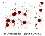 blood or paint splatters... | Shutterstock .eps vector #1045569769