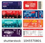 concert  cinema  airline and... | Shutterstock .eps vector #1045570801
