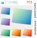 wyoming geometric polygonal ... | Shutterstock .eps vector #1045571494