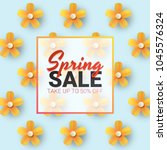 spring sale floral advertizing... | Shutterstock .eps vector #1045576324