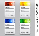 vector glossy login form | Shutterstock .eps vector #104558147