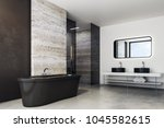 side view of marble bathroom... | Shutterstock . vector #1045582615