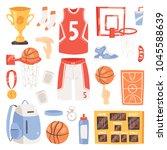 basketball vector sportswear... | Shutterstock .eps vector #1045588639