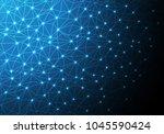 abstract light line mesh...   Shutterstock .eps vector #1045590424