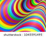 colorful fluid curved lines... | Shutterstock .eps vector #1045591495