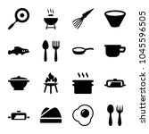 cook icons. set of 16 editable... | Shutterstock .eps vector #1045596505