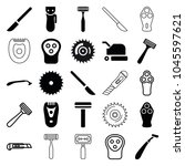 cutter icons. set of 25... | Shutterstock .eps vector #1045597621