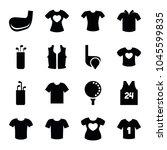 tee icons. set of 16 editable... | Shutterstock .eps vector #1045599835