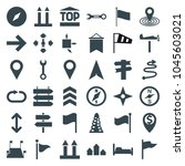 direction icons. set of 36... | Shutterstock .eps vector #1045603021