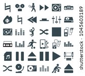 player icons. set of 36... | Shutterstock .eps vector #1045603189