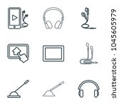 gadget icons. set of 9 editable ... | Shutterstock .eps vector #1045605979