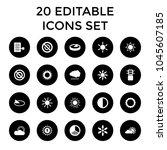 sunlight icons. set of 20...   Shutterstock .eps vector #1045607185