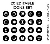 minute icons. set of 20... | Shutterstock .eps vector #1045607191