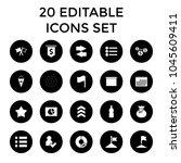 ui icons. set of 20 editable...