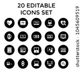 monitor icons. set of 20... | Shutterstock .eps vector #1045609519