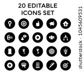 conceptual icons. set of 20... | Shutterstock .eps vector #1045609531