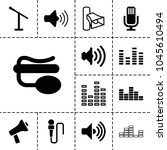 voice icons. set of 13 editable ... | Shutterstock .eps vector #1045610494