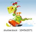 dragon snowmobile | Shutterstock .eps vector #104562071